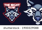scary wolf head sports logo... | Shutterstock .eps vector #1900329088