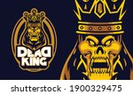 angry dead king with crown... | Shutterstock .eps vector #1900329475