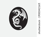 dragon vector icon illustration ... | Shutterstock .eps vector #1900342165