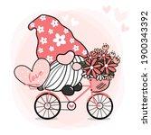 Cute Sweet Pink Gnome Valentine ...