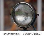 Old Rusty Headlight Of An...