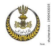 coat of arms of perak is a...   Shutterstock .eps vector #1900433035