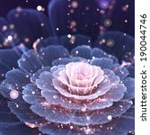 Pink And Gray Fractal Flower  ...