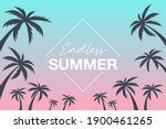 endless summer background with... | Shutterstock .eps vector #1900461265
