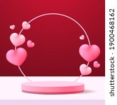 happy valentine's day podium... | Shutterstock .eps vector #1900468162