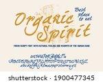 retro vector 'organic spirit'... | Shutterstock .eps vector #1900477345