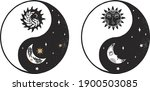 set of ying and yang in boho... | Shutterstock .eps vector #1900503085