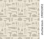 seamless pattern with repair... | Shutterstock .eps vector #190052852