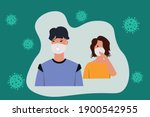 people who are worried and...   Shutterstock .eps vector #1900542955