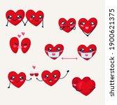 valentines day couple sticker...   Shutterstock .eps vector #1900621375