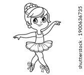 beautiful ballerina girl in... | Shutterstock .eps vector #1900636735