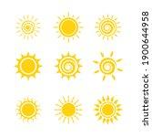 set of sun icons logo vector in ...   Shutterstock .eps vector #1900644958