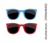 sunglasses retro blue and red... | Shutterstock .eps vector #1900648402