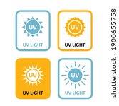uv light labels  sterilization... | Shutterstock .eps vector #1900655758