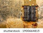 Old Grunge Wooden Window  In...