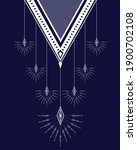 ethnic neck embroidery for... | Shutterstock .eps vector #1900702108