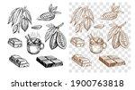 chocolate bar  cocoa bean  hot...   Shutterstock .eps vector #1900763818