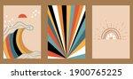 set of three abstract pop art... | Shutterstock .eps vector #1900765225