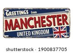 greetings from manchester... | Shutterstock .eps vector #1900837705
