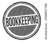 bookkeeping sign or stamp on... | Shutterstock .eps vector #1900837708