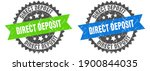 direct deposit grunge stamp set.... | Shutterstock .eps vector #1900844035