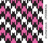 Cats Houndstooth Pattern With...