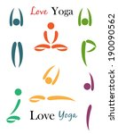 illustration of yoga and... | Shutterstock .eps vector #190090562