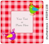 cute red plaid frame with... | Shutterstock . vector #190091108