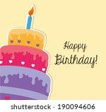 happy birthday design over... | Shutterstock .eps vector #190094606
