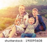 active leisure   father with... | Shutterstock . vector #190095608