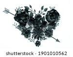 Black Paper Flowers  Floral...
