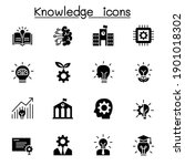 knowledge icons set vector...   Shutterstock .eps vector #1901018302