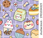 seamless pattern of cute... | Shutterstock .eps vector #1901034325