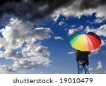 a person standing alone ... | Shutterstock . vector #19010479
