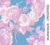 roses seamless pattern  | Shutterstock . vector #190105502