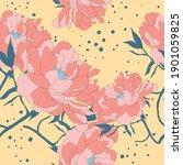 beautiful seamless floral... | Shutterstock .eps vector #1901059825