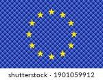 mosaic flag of the european...   Shutterstock .eps vector #1901059912
