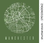 manchester map poster.... | Shutterstock .eps vector #1901060062