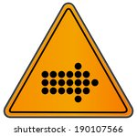 rounded triangle shape hazard... | Shutterstock .eps vector #190107566