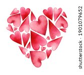 valentine's day  greeting card... | Shutterstock . vector #1901079652