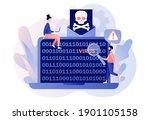 computer virus concept. hacker... | Shutterstock .eps vector #1901105158