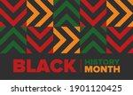 black history month. african... | Shutterstock .eps vector #1901120425