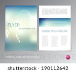 abstract vector modern flyer  ... | Shutterstock .eps vector #190112642