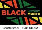 black history month. celebrated ... | Shutterstock .eps vector #1901138455