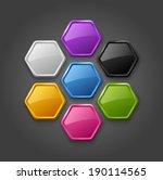 vector abstract hexagonal... | Shutterstock .eps vector #190114565