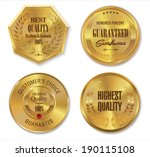 golden metal badges | Shutterstock .eps vector #190115108