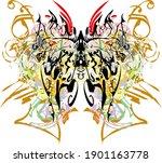 beautiful colorful splattered... | Shutterstock .eps vector #1901163778