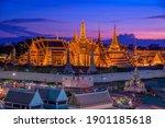Small photo of Wat Phra Kaew ,Temple of the Emerald Buddha ,full official name Wat Phra Si Rattana Satsadaram in Bangkok ,Thailand