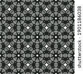 seamless geometric black and... | Shutterstock . vector #1901186038
