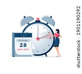 daylight saving time vector... | Shutterstock .eps vector #1901190292